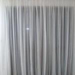 Síťovaná záclona s olůvkem na kolejničce standard